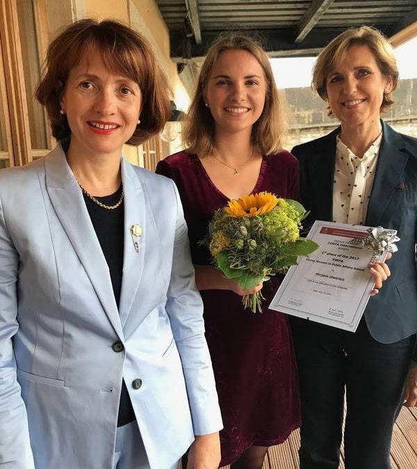 Zonta-District 14 verleiht YWPA-Preis an Abiturientin Mirjam Dietrich