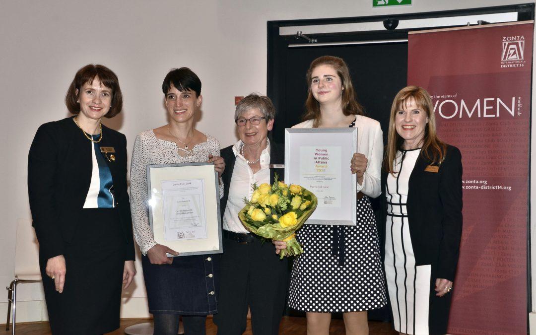 Zonta vergibt zwei Preise an eine vielseitig engagierte Schülerin und eine herausragende Nachwuchswissenschaftlerin