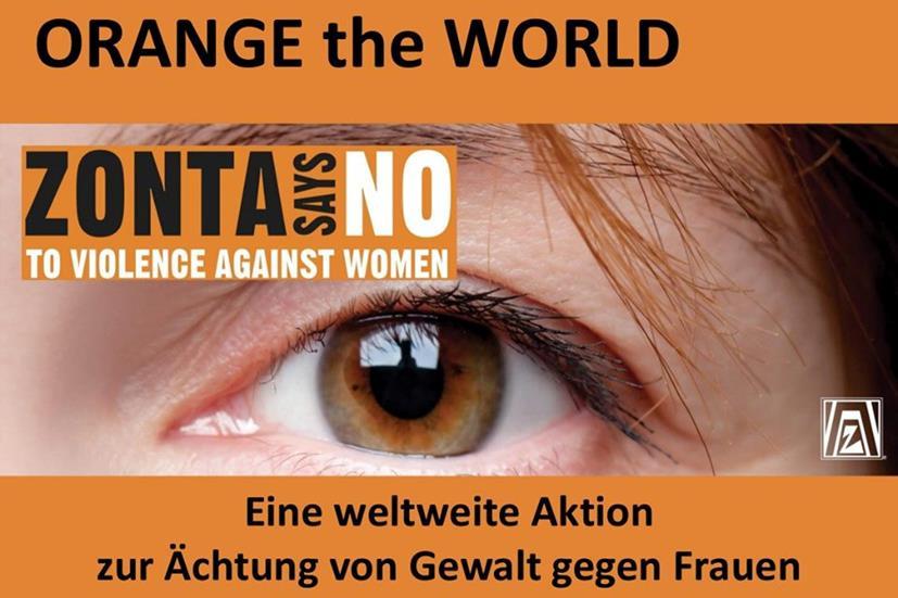 25.11.2019 – ZONTA setzt Zeichen gegen Gewalt an Frauen und Mädchen